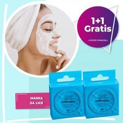 Gel maska za lice CAFÉ MIMI (ekspres, kolagen) 15ml 1+1 GRATIS